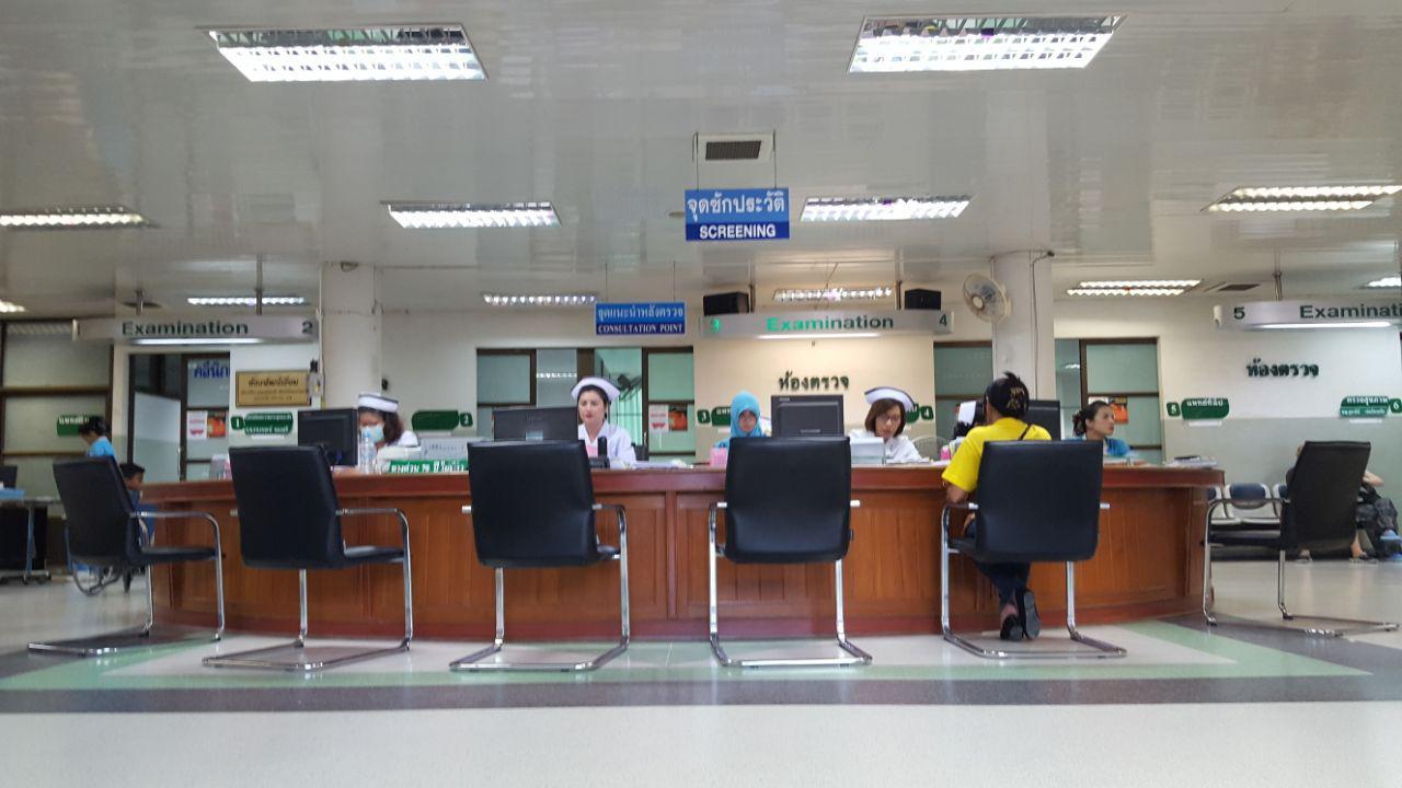 Ресепшен в Pathong Hospital на Пхукете