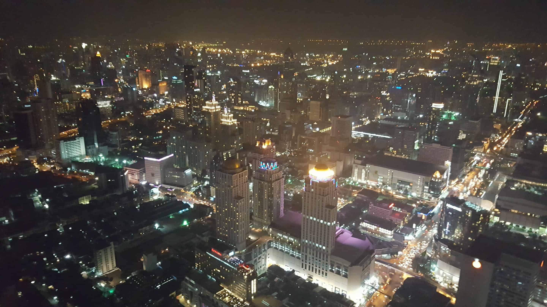 Вид с башни Байок на вечерний Бангкок