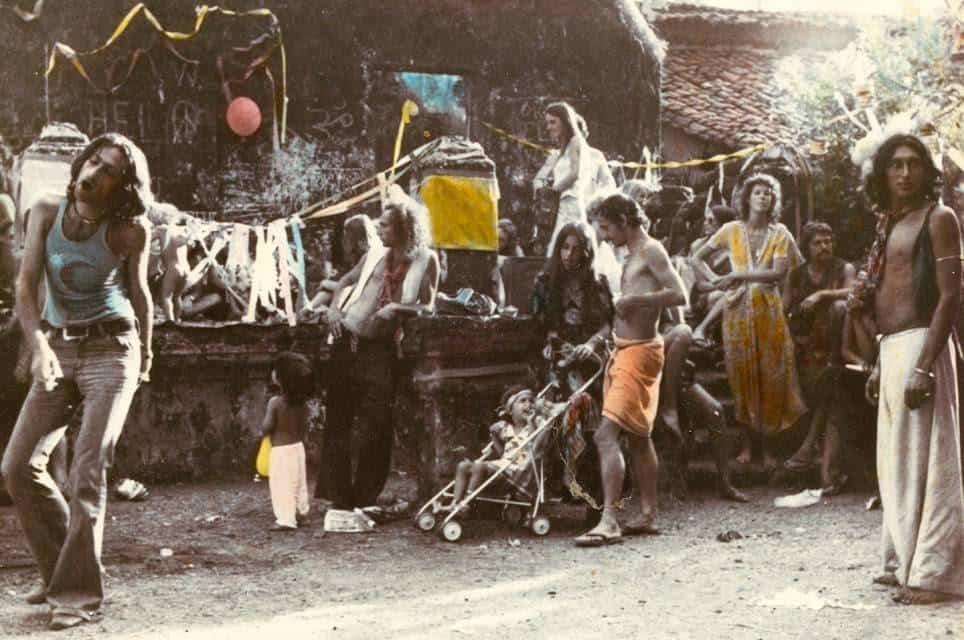 Первый Flea Market, Анджуна, Гоа, 1970е (Photo by Jacques Lasry).