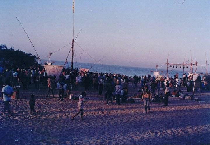Party в Baga, Goa, Февраль 1988 (Photo by Tal Cohen Alloro).