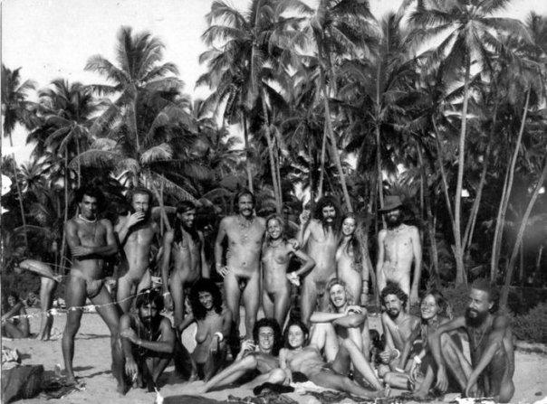 Община хиппи. Гоа, Индия. 1971 год.