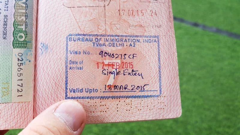 Штамп, который вы получите после оформления электронной визы в Индию