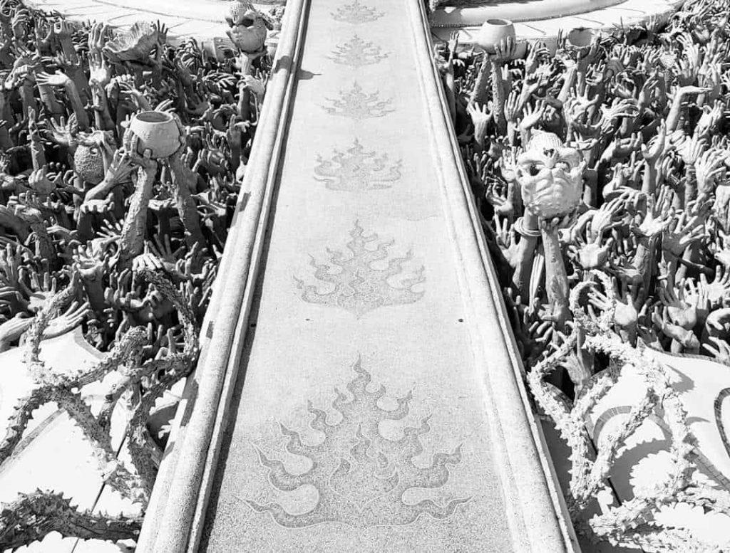 "Мост ""циклов перерождений"". Белый Храм. Чианг Раи, Таиланд"