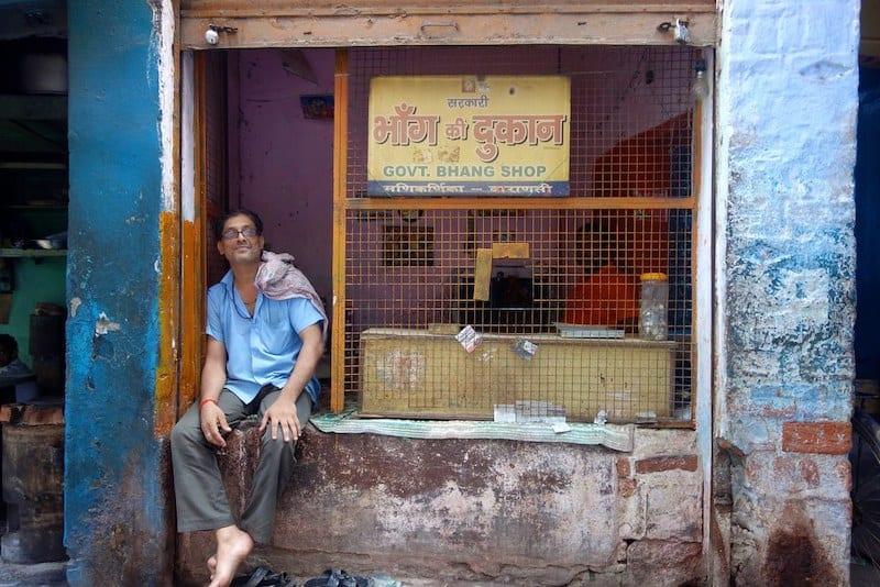Бханг шоп в Варанаси