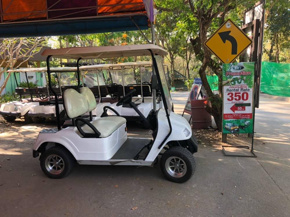 Электрокар для передвижения по зоопарку Чиангмая