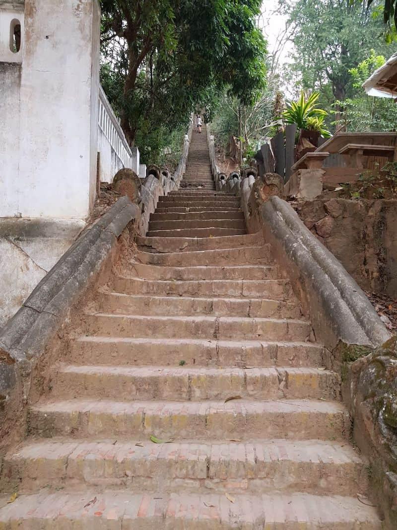 Лестница ведущая на вершину. Восточный склон