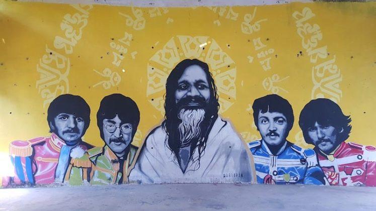 Граффити в зале для лекций - отличное место для селфи